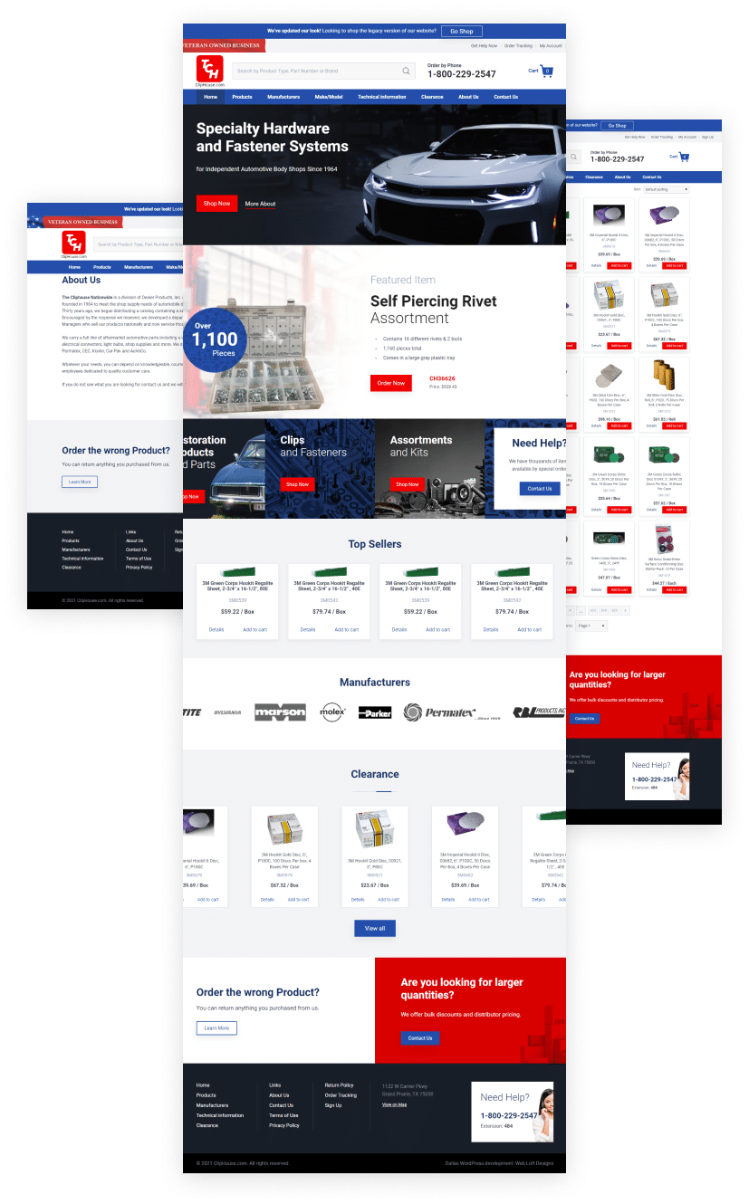 Cliphouse eCommerce - ecommerce websites Dallas – ecommerce websites Plano - Shopify website builders - ecommerce website builders Dallas – ecommerce website builders Plano - Magento website builders - WooCommerce website builders – Web Loft Designs Dallas and Plano