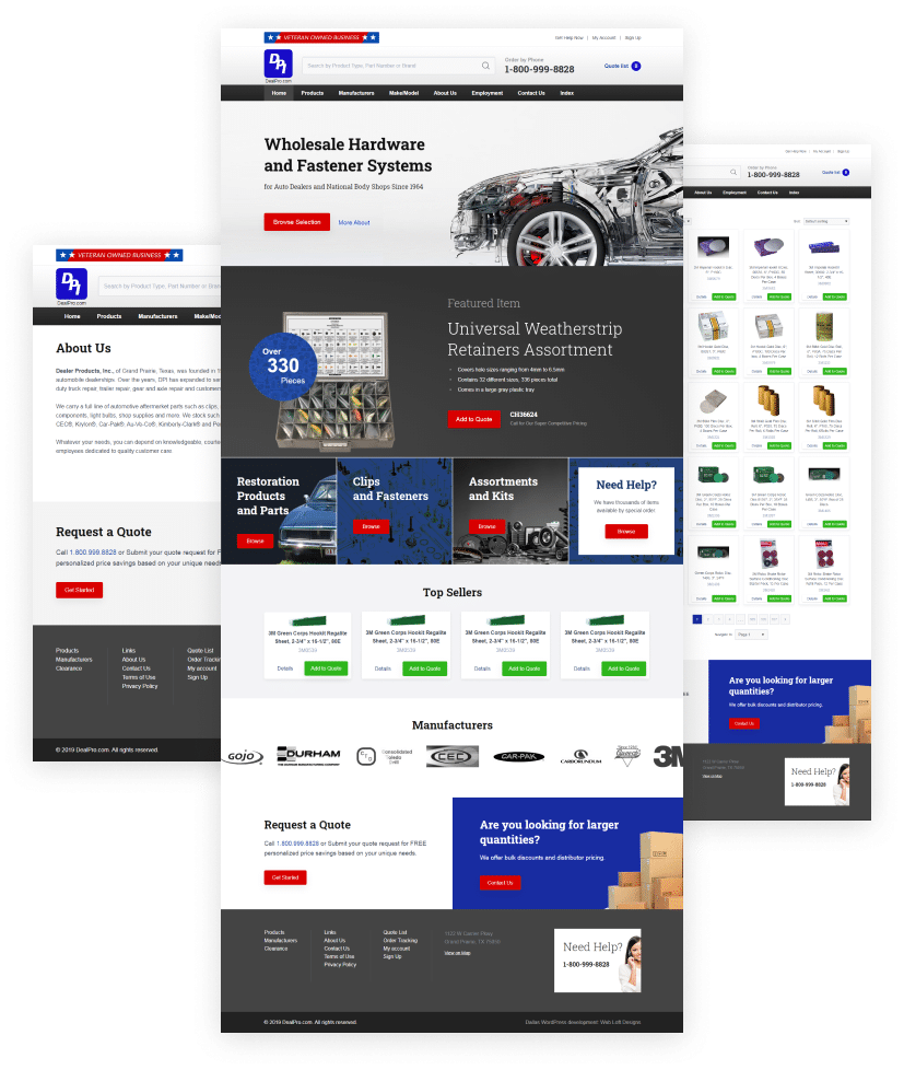 Dealer Products eCommerce - ecommerce websites Dallas – ecommerce websites Plano - Shopify website builders - ecommerce website builders Dallas – ecommerce website builders Plano - Magento website builders - WooCommerce website builders – Web Loft Designs Dallas and Plano