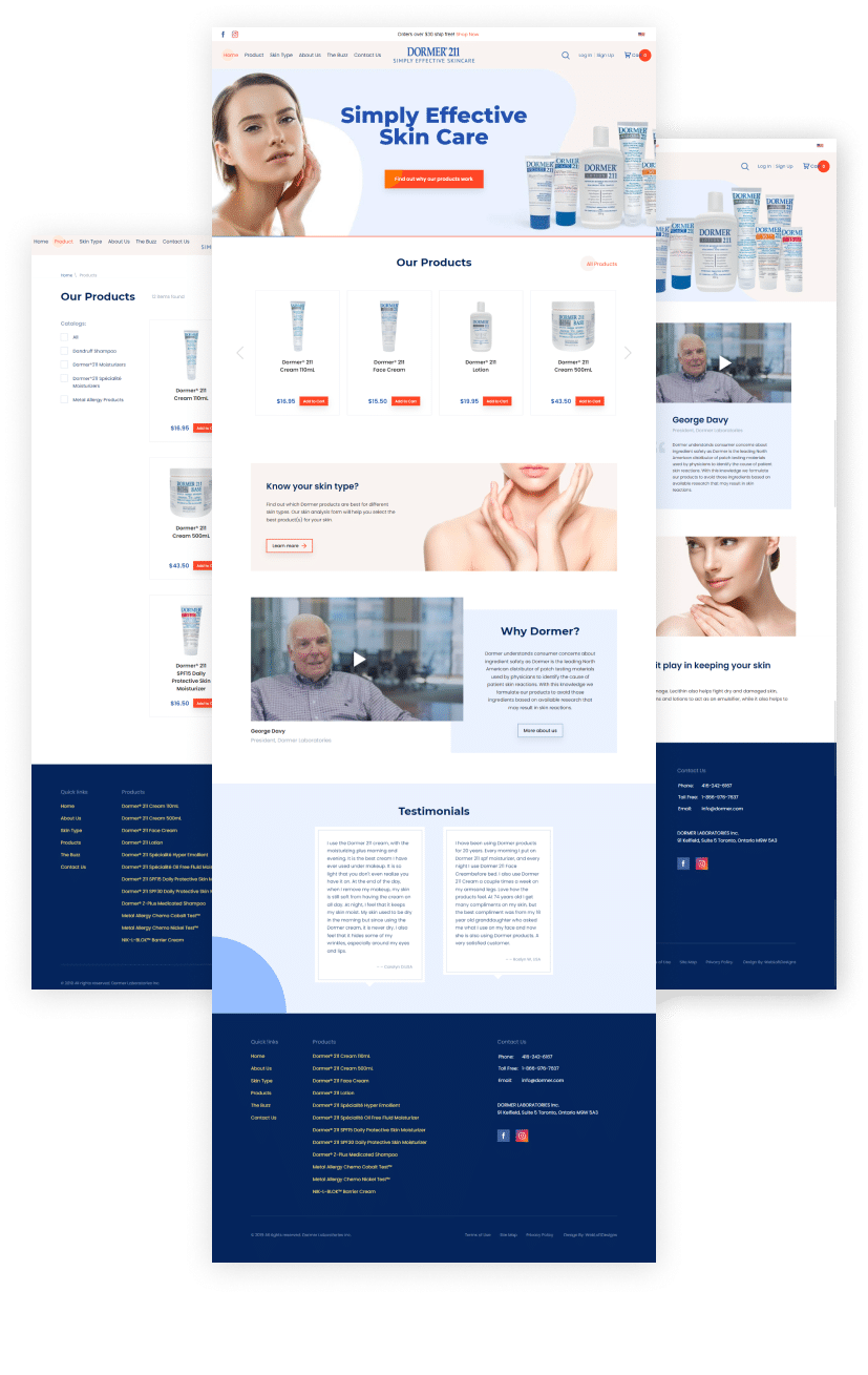 Dormer Skincare eCommerce site - ecommerce websites Dallas – ecommerce websites Plano - Shopify website builders - ecommerce website builders Dallas – ecommerce website builders Plano - Magento website builders - WooCommerce website builders – Web Loft Designs Dallas and Plano