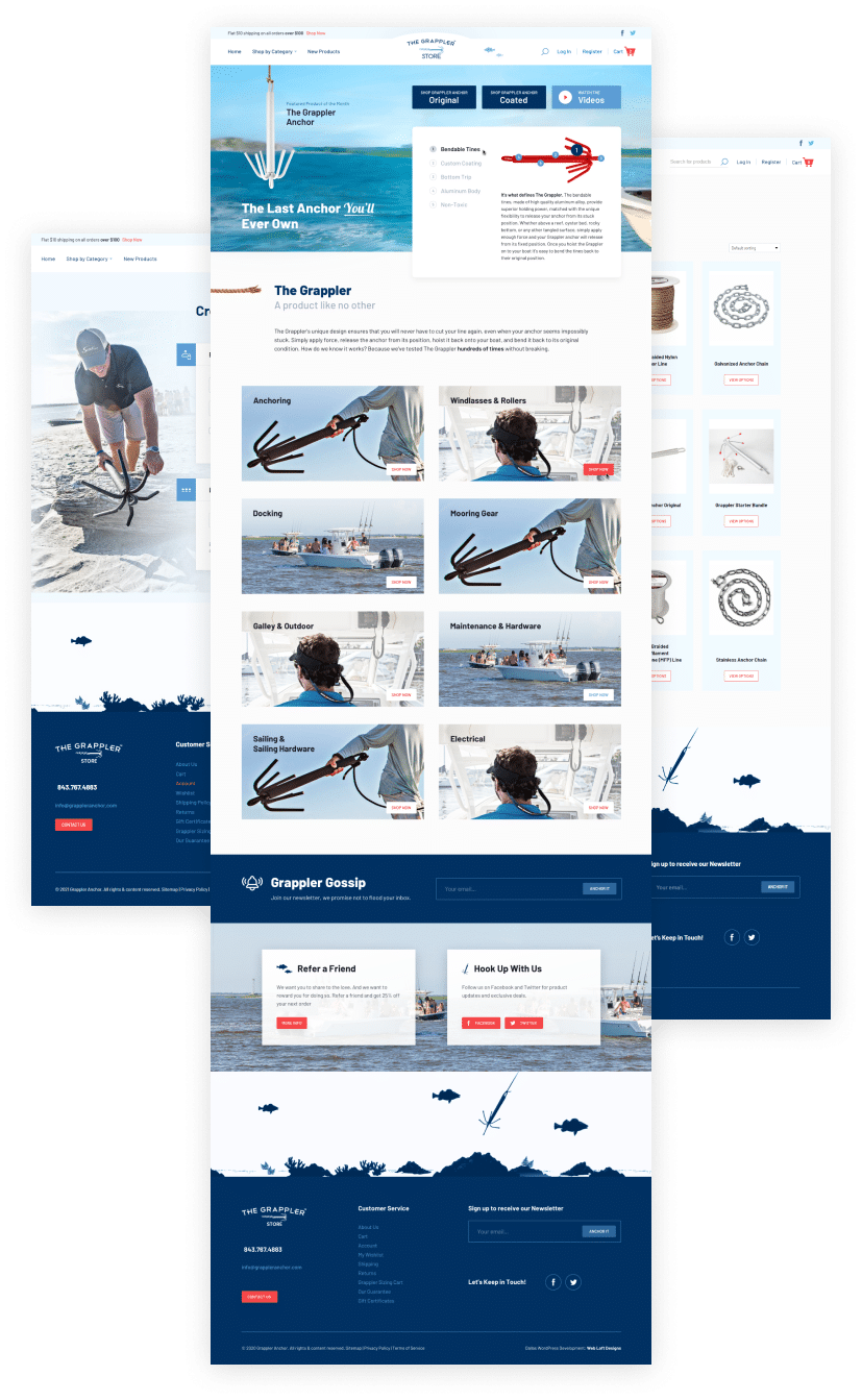 Grappler Anchor eCommerce site - ecommerce websites Dallas – ecommerce websites Plano - Shopify website builders - ecommerce website builders Dallas – ecommerce website builders Plano - Magento website builders - WooCommerce website builders – Web Loft Designs Dallas and Plano
