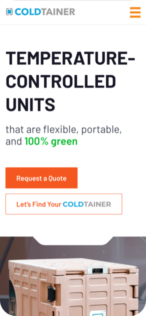 Coldtainer Mobile Website